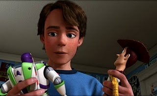 Toy Story 3 - Andy with Buzz and Woody