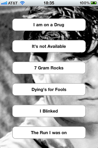 Charlie Sheen mobile app - iphone